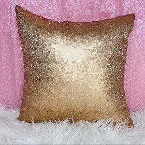 💗Gold Sequins Pillow Cushion Cover Home Accent!